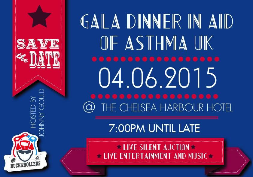 Events in Kensington & Chelsea - Ruck & Rollers Gala Dinner