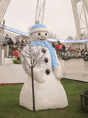 A friendly snowman at Winter Wonderland 2011