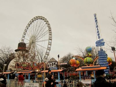 Giant wheel and Santa Land at Winter Wonderland 2011