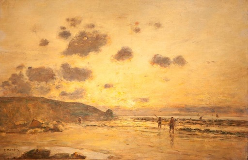 Evening Étretat, Eugene Boudin