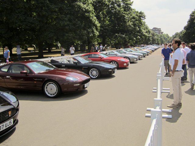 Aston Martin Event in Kensington Gardens