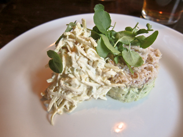 The Windsor Castle Kensington - Devon crab with avocado, celeriac and apple coleslaw