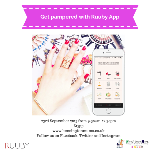 Kensington Mums Pamper Party with Ruuby App